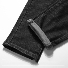 KSTUN Mens Jeans Japan Style Spring Autumn Elastic Waist Black Slim Drawstring Black Jean Man Casual Denim Pants Joggers Homme