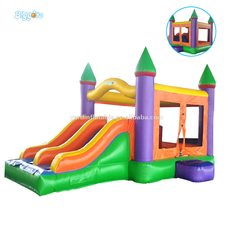 Hot selling commercial bouncy castle slide inflatable house combo for sale