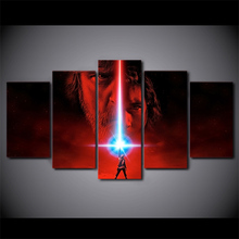 5 Pieces The Last Jedi HD Print Canvas Wall Decor