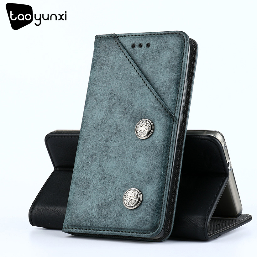 TAOYUNXI For Xiaomi Redmi Note 4X Case Flip Leather Wallet Redmi Note 4 Global Version Cases Vintage Plain Leather Holsters 5.5