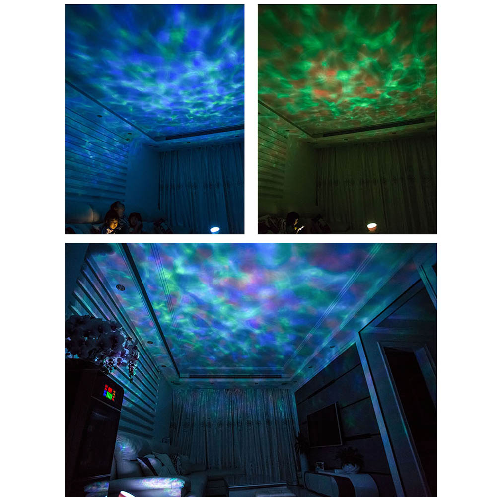 Newest Night Light Star Sky Ocean Music Player Projector Light Sleep Romantic LED USB Aurora Starry Lamp