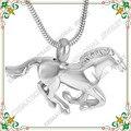 CMJ8669 Veloz caballo forma animal Collar conmemorativo cremationurn ceniza funeral de acero inoxidable joyería colgante collar
