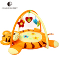Educational Baby Toy Kids Play Mat Tapete Infantil Cotton Crawling Mat Cartoon Tiger Game Play Gym Blanket Carpet 0-1 Year HK877