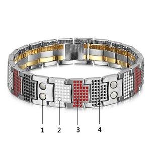 Image 5 - RainSo мужской браслет 2018 Популярные Модные браслеты, Прямая поставка и браслеты Шарм германий магнитный H мощность Титан