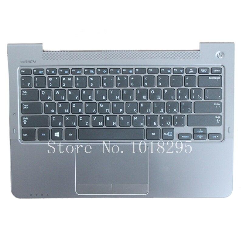 Russische Für Samsung NP530U3C NP530U3B NP535U3C 530U3B 530U3C NP540U3 NP532U3C NP532U3A RU tastatur grau palmrest abdeckung