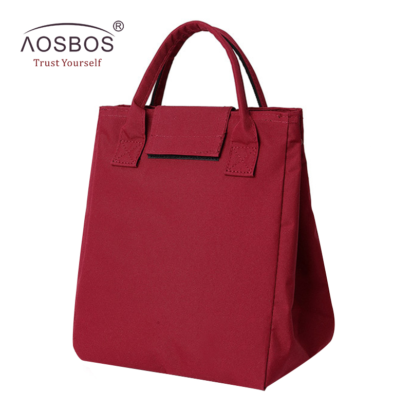 Aosbos Portable Oxford Thermal Lunch font b Bags b font for Women Men Kids Insulated Striped