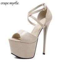 nude platform sandals extrem high heels shoes women heels ankle strap heels sandals women wedding shoes sexy black pumps YMA243