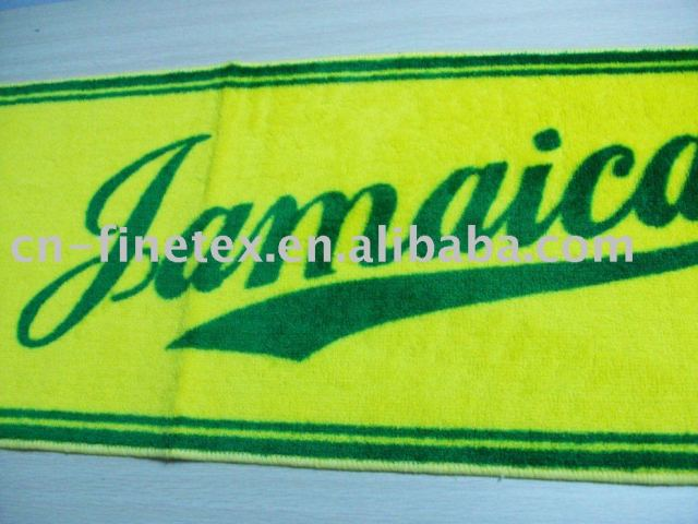 100%Acrylic High quality new I love Jamaica anti-slip long mat bath mat