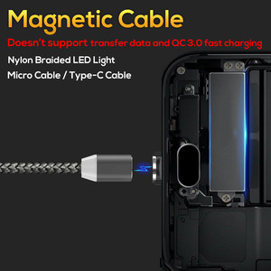 Image 5 - Magnetic Charger Cable Fast Charging Micro USB Type C Cable For iPhone 11 Pro Max Samsung Xiaomi Mobile Phone USB C Magnet Wire