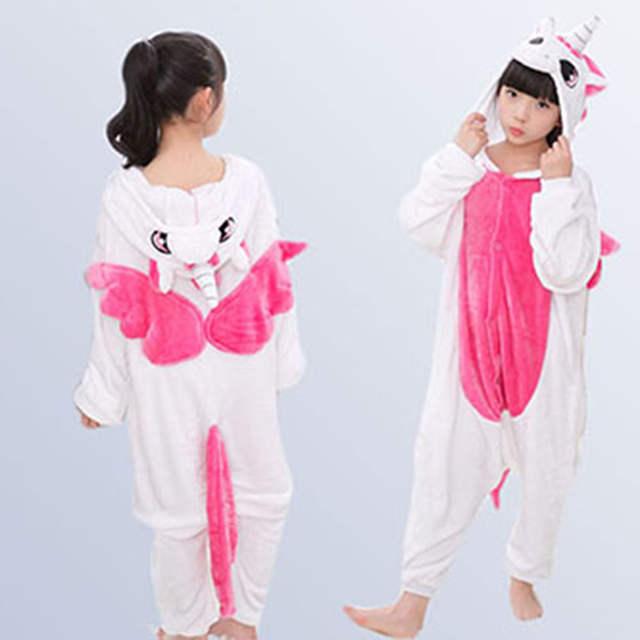 34525e6004bf placeholder Unicorn Kids Pajamas for Girls Boys Onesie Children s Sleepwear  Flannel Christmas Warm Pyjamas Baby Onesies for