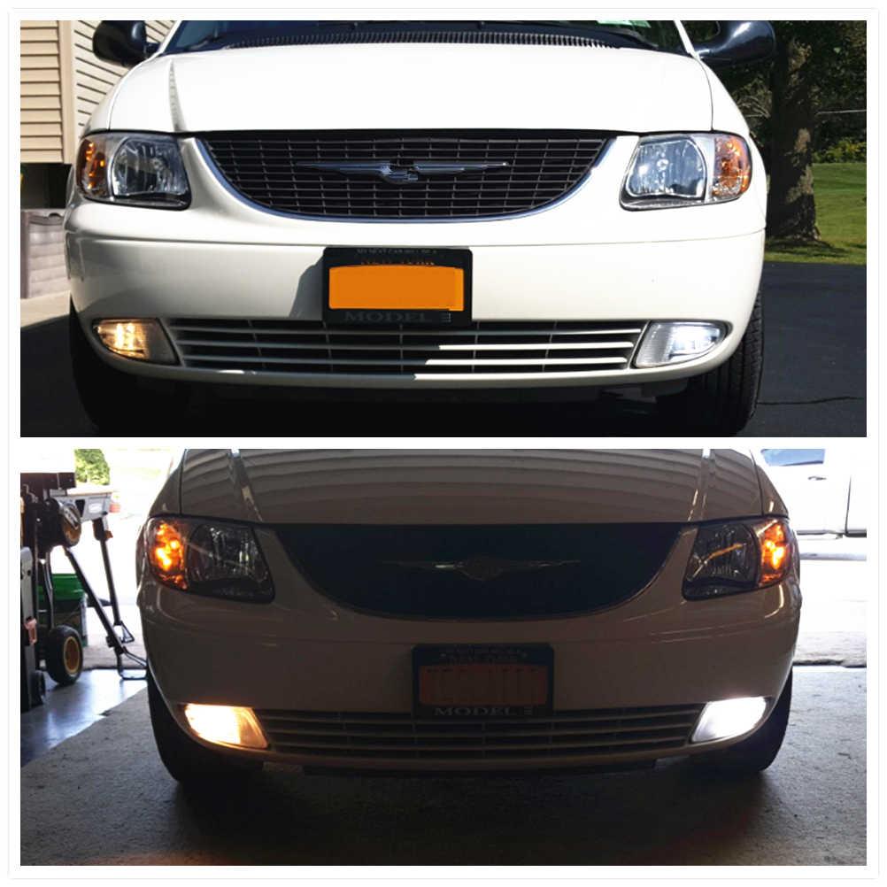 WLJH 2x LED 9006 HB4 Automotive Car Fog Light Bulbs Daytime Driving Lamp DRL 12v-24v LED For Toyota Avalon 4Runner Camry Corolla