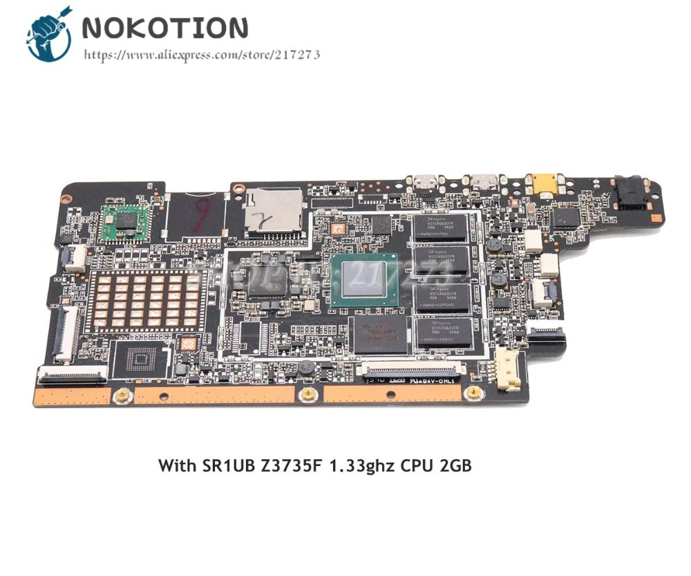 NOKOTION MAIN BOARD For Lenovo MIIX300 MIIX300-10IBY 10.1 Inch Motherboard 5B20K38082 5B20K38075 SR1UB Z3735F 1.33ghz CPU 2GNOKOTION MAIN BOARD For Lenovo MIIX300 MIIX300-10IBY 10.1 Inch Motherboard 5B20K38082 5B20K38075 SR1UB Z3735F 1.33ghz CPU 2G