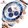 NAVIFORCE 2019 Luxo Mens Relógios Top Marca de Luxo Completa de Aço Relógio de Quartzo Homens de Negócios À Prova D' Água Data relógio de Pulso Relógio Masculino