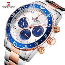 NAVIFORCE 2019 Luxury Mens Watches Top Brand Luxury Full Steel Quartz Watch Men Waterproof Business Date Wristwatch Male Clock