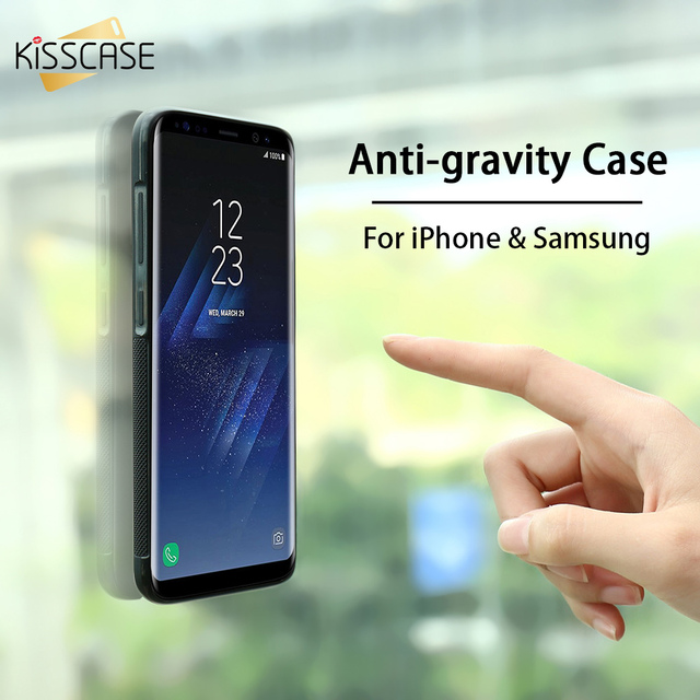 KISSCASE Anti Gravity Case For iPhone X 8 7 6 6S Plus 5S Adsorbable Cover For Samsung Galaxy S6 S7 Edge S5 S8 S9 Plus Note 8 P9 4