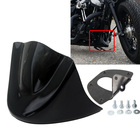 Gloss Black Motorcycle Lower Front Chin Spoiler Air Dam Fairing Cover For Harley 2006-Up Dyna Models