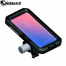 Waterproof Motorcycle Handlebar Phone Holder Stand Armor Outdoor Support For Samsung S8 plus S9 S7 S5 Bicycle Bike GPS Phone Bag