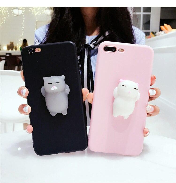 Cute cat Squishy phone case for samsung A3 A5 A7 J3 J5 J7 max 2017 2016 J2 pro 2018 S9 S8 plus s6 s7 edge note 8 soft TPU