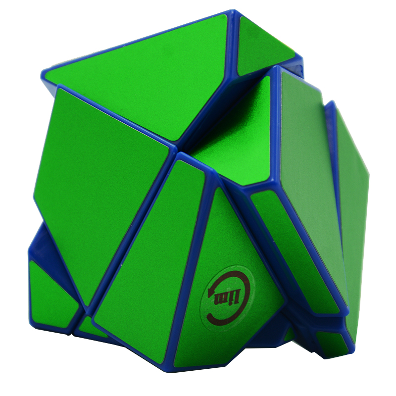 Dutiful Fangshi Lim 2x2 Ghost Guimo Cube Blue Base With Black/silver/green Sticker Speed Cube Puzzle Educational Toys Gh-ost-cube Latest Technology Puzzles & Games