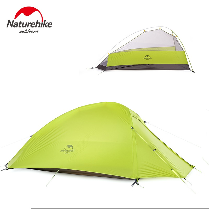 Naturehike 1 Personne Camping En Plein Air Tente Unique Homme Ultraliht Camp Tente Gris Orange Vert