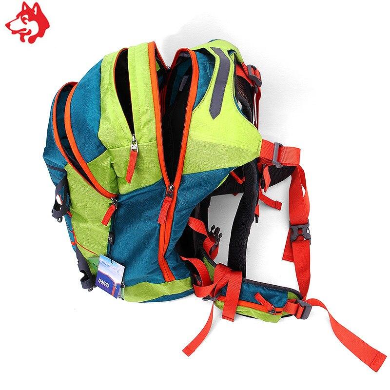 Купить с кэшбэком china wholesale 50L Outdoor Large capacity  Red/Grey/Dark Green Rucksack hiking Travel  male & female  Mountaineering Bag