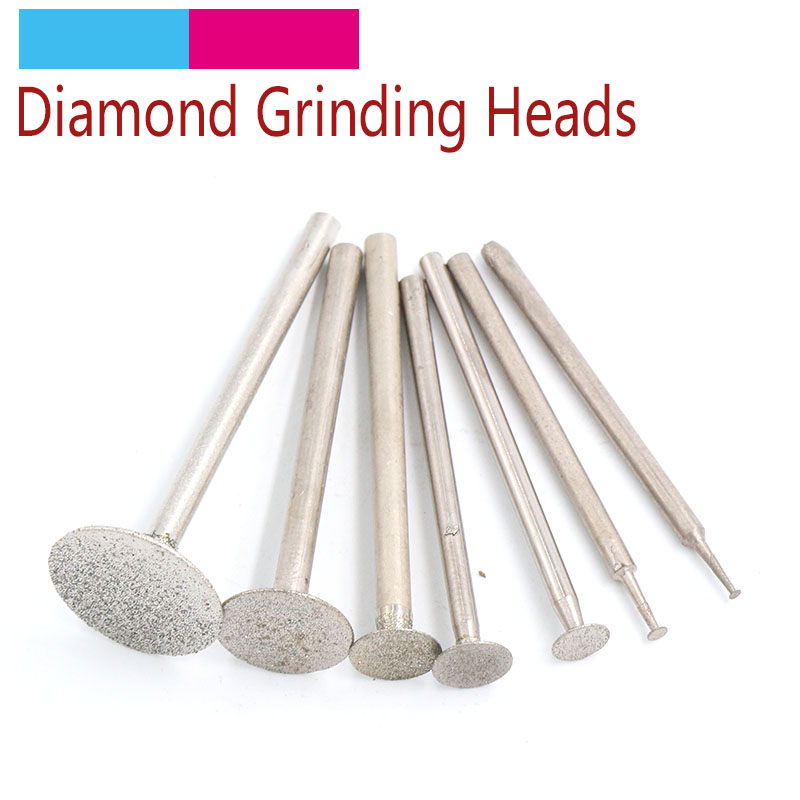 10pcs 2.35/3mm Shank Electroplated Diamond Grinding Head Burrs Drill Bit Set For Dremel Rotary Tool Grinding Accessories KTBP