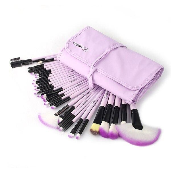 32Pcs Set Professional Makeup Brush Foundation Eye Shadows Lipsticks Powder Make Up Brushes Tools w/ Bag pincel maquiagem 4