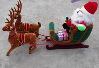 Рождество Украшения Рождество олени и Санта Клаус модели, ремесленные фигурки домашний макет украшения Рождественский подарок a2635