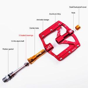 Image 4 - WEST BIKING 3 베어링 자전거 페달 초경량 Anti slip CNC 도로 MTB 자전거 페달 사이클링 밀폐형 베어링 자전거 페달