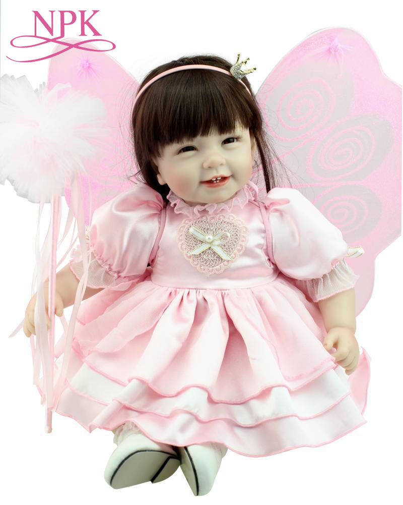 55CM Butterfly Wing Reborn Baby Doll Soft Silicone Adora Toddler Reborn Sweet Alive Bebe Girl Toys As Girls Gift Toys Boneca55CM Butterfly Wing Reborn Baby Doll Soft Silicone Adora Toddler Reborn Sweet Alive Bebe Girl Toys As Girls Gift Toys Boneca