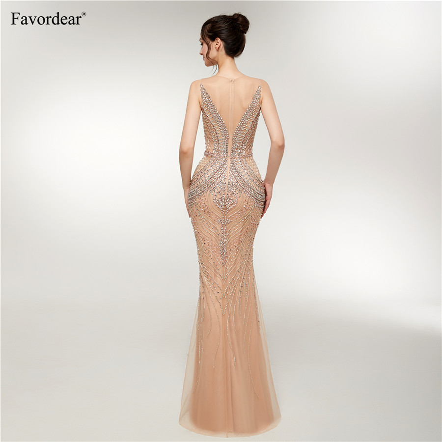 fc34d33ef11 ... Sapphire Bridal 2019 New Womens Long Formal Gowns Sparkly Mermaid Gold  Huge beaded Sexy Long Evening ...