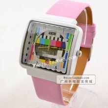 Модные Relogio Masculino роскошные ТВ кварцевые наручные часы с циферблатом PU кожа платье для женщин мужчин унисекс часы подарки спортивные наручные часы
