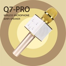 Mini Q7 Karaoke Microphone Player Wireless Bluetooth Condenser Mic Speaker Home KTV Singing Record for IPhone Android Phone PRO