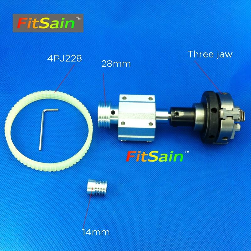 FitSain hole 5mm pulley three jaw chuck D 50mm Pulley mini drill press mini Lathe