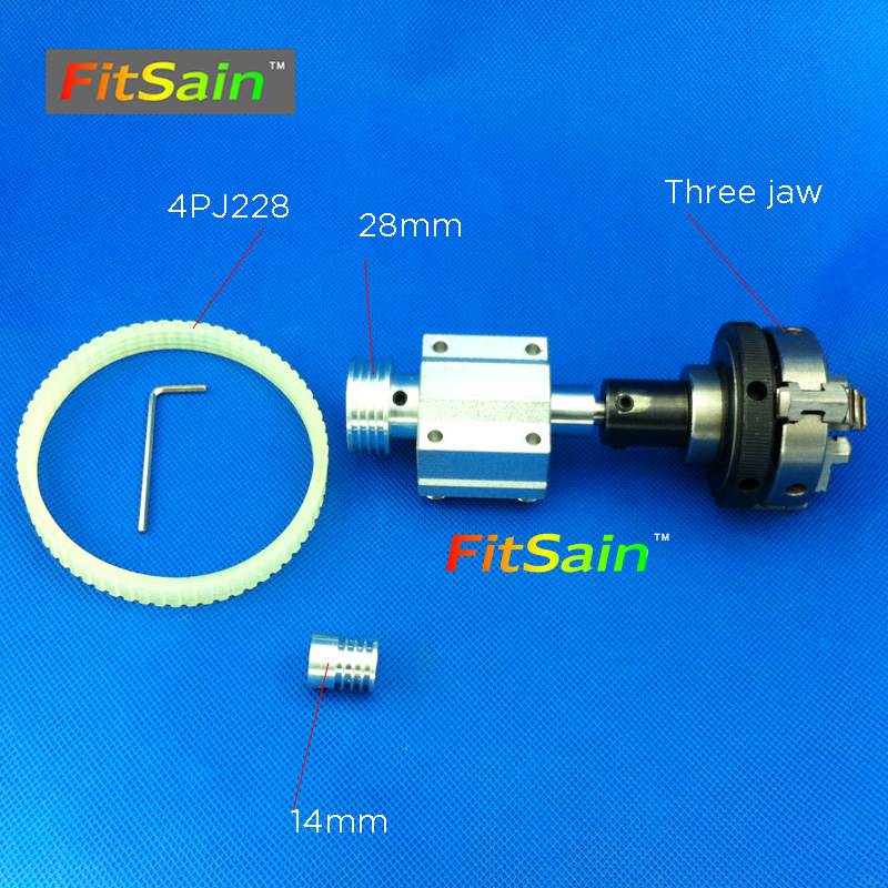 FitSain-hole 5mm pulley three jaw chuck D=50mm Pulley mini drill press mini Lathe