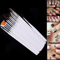 15 unids de Acrílico Sistema de Cepillo Profesional del Cepillo de Uñas Herramienta Del Arte Del Clavo Decoraciones Nail Pen Pintura de Uñas de UV Gel Polaco