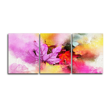 Laeacco Abstract 3 Panel Nordic Watercolor Posters and Prints Pictures Wall Artwork Home Living Room Decoration Canvas Paintings