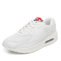 2017 All White Max Air For Women Men Running Shoes Trainers Breathable Breathable Sneakers Outdoor Shoes