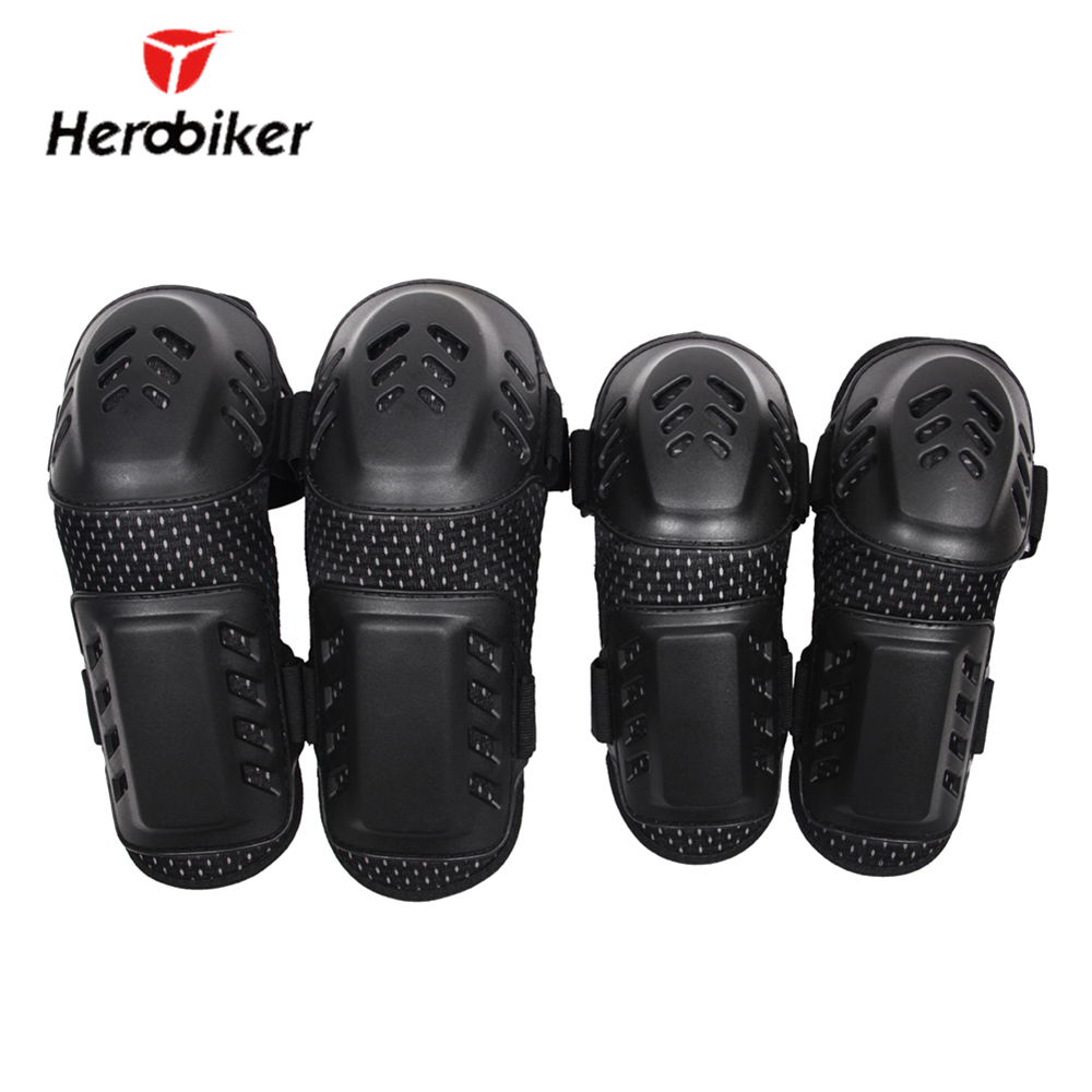 HEROBIKER Motorcycle Knee Pad ATV Dirt Bike Motocross Off-Road Adult Elbow Knee Pads Sets Extreme Sports Guards Protective Gear