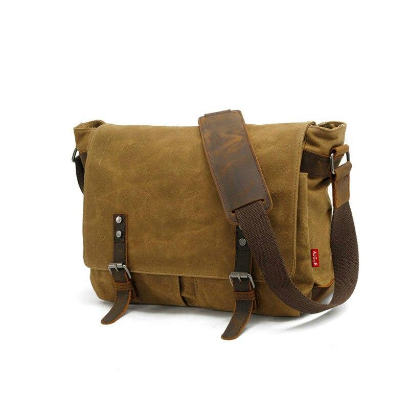 Canvas Men's Messenger Bag Casual Crossbody Bags For Men Larger Shoulder Laptop Bag Waterproof Satchels Male Messenger Bag