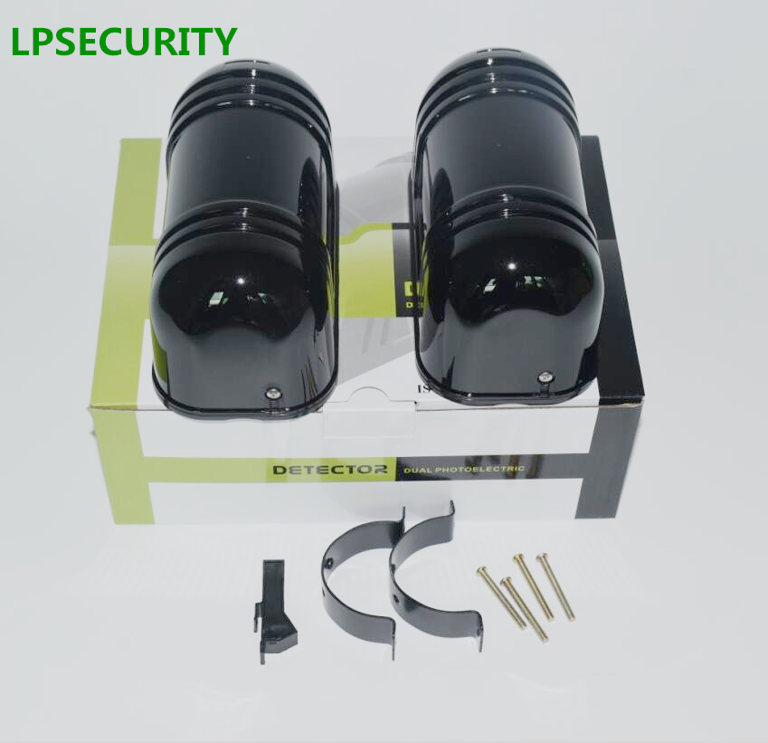 LPSECURITY 20m~150m Wall Gate Window Photoelectric Infrared double Beam Detector perimeter protection 2 beam infrared sensor the ivory white european super suction wall mounted gate unique smoke door