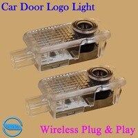 OCSION 2pcs LED Car Door Logo Projector Laser Ghost Shadow Light For Audi A6L A7 A8
