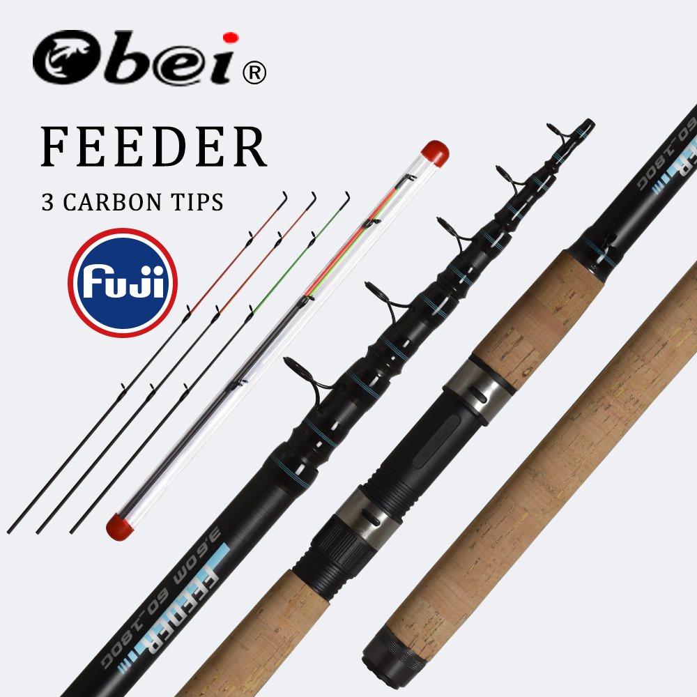 OBEI Feeder fishing rod telescopic spinning casting Travel Rod 3 3 3 6m vara de pesca