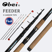 OBEI Feeder fishing rod telescopic spinning casting Travel Rod 3.3 3.6m vara de pesca Carp Feeder 60 180g fuji pole