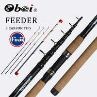 OBEI Feeder fishing rod telescopic spinning casting Travel Rod 3.0 3.3 3.6m vara de pesca Carp Feeder 60-180g fuji pole