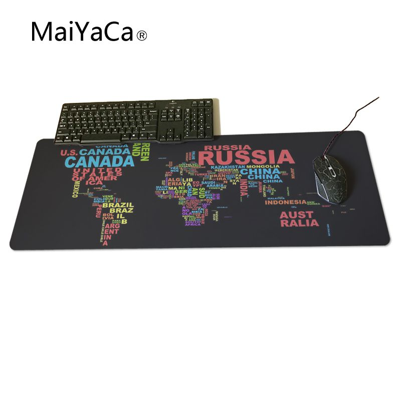 MaiYaCa Map Large Game Mouse Pad 600*300 high quality with edge locking Speed Version Game Keyboard Pad for Gamer