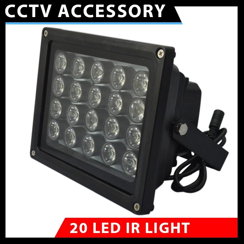 1pcs 20 high power LED illuminator Light CCTV IR Infrared Night Vision For Surveillance Camera 48 led illuminator light cctv ir infrared night vision for surveillance camera brand new dropshipping