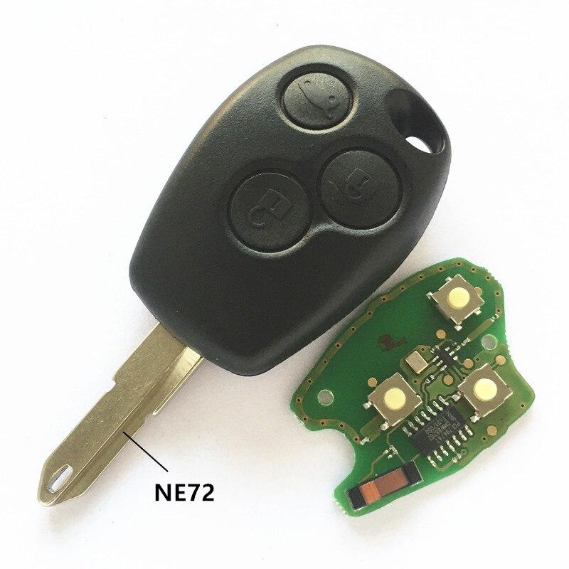 QCONTROL Voiture À Distance Clé pour Renault Duster Logan Fluence Clio Vivaro Movano Maître Trafic Kangoo Megane Laguna PCF7946/PCF7947