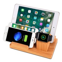 Multifunctional USB Charging Dock Mobile Holder Tablet Stand Mount for Apple Watch dock iPad iPhone smart phone Multiple Devices