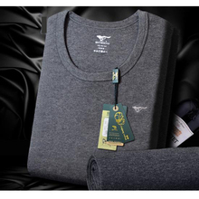 180204/100% cotton sweater skin tight thermal underwear male set thin/V-neck/Round neck/Breathable/winter slim Fine workmanship
